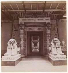 NEGRETTI Henry (1818-1879) & ZAMBRA Joseph Warren, photographs, Crystal Palace, Entrance to Hall of Karnac, Egyptian Court, 1855-1890.