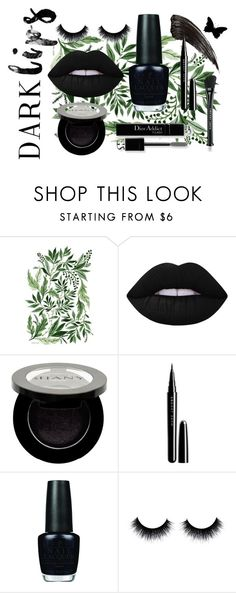 """""""Untitled #12"""" by selena-sok on Polyvore featuring beauty, Lime Crime, Shany, Christian Dior, Marc Jacobs, OPI, Dark, darklips and matchingmakeup"""