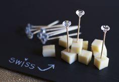 How to make Diamond Toothpicks!!  #wedding #DIY