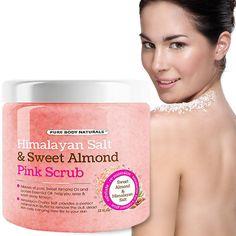 himalayan salt pink scrub Deep Body Cleansing Exfoliator With Sweet Almond Oil #PureBodyNaturals