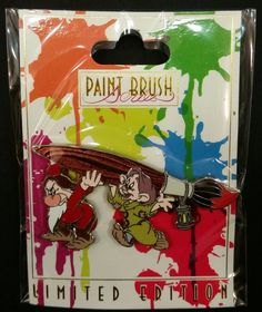 This is for a NEW IN THE BAG Paint Brush Grumpy and Dopey from Snow White pin released during the Animation Celebration Event on November 6th 2016. This pin is LE (limited edition) of 300. | eBay!