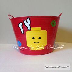 Lego man Easter bucket #vinyl #cricut #cricutexplore