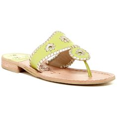 Jack Rogers Palm Beach Platinum Sandal ($80) ❤ liked on Polyvore featuring shoes, sandals, limepla, palm beach sandals, jack rogers shoes, palms sandals, braided strap sandals and beach shoes