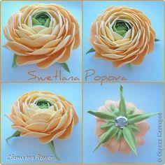 Украшение Моделирование конструирование Цветы из фоамирана  Фоамиран фом фото 1