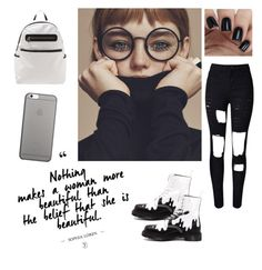 you are beautiful ! by ellalidiar on Polyvore featuring polyvore fashion style Dr. Martens Native Union clothing