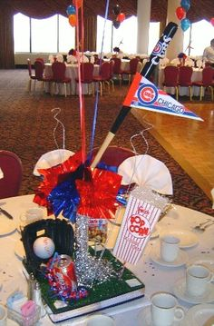 Baseball Themed Centerpiece