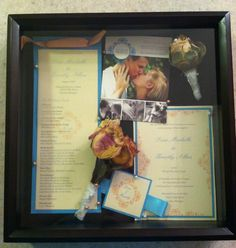 Wedding Shadowbox- making one for the guestbook table!