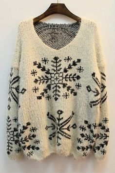 Oversized Snowflake Sweater w/ leggings & boots Pull Jacquard, Street Style Store, Handgestrickte Pullover, Gilet Long, Textiles, Look At You, Sweater Weather, Autumn Winter Fashion, Winter Chic