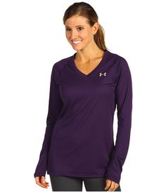 Under Armour Tech™ L/S Tee Zone Heather/Iridescent Blue - 6pm.com