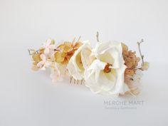 Merche Mart, tocados y sombreros: OPHELIA Corona de flores preservadas