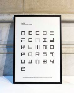 Poster De Stijl, by James Thompson. A review of art through typography, numered edition 200 copies