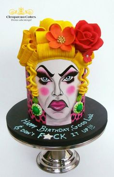 Drag queen cake - cake by Cleopatra cakes
