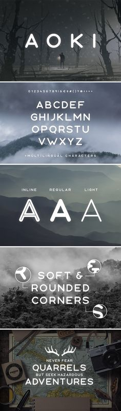 Aoki Typeface — OpenType OTF Fonts and typography Graphic Design Fonts, Font Design, Web Design, Lettering Design, Hand Lettering, Design Art, Typeface Font, Sans Serif Fonts, Calligraphy Fonts