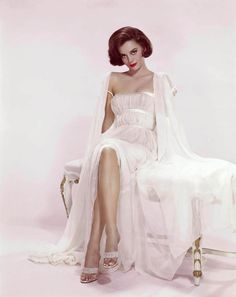 1950s star Natalie Wood in a gorgeous white negligee