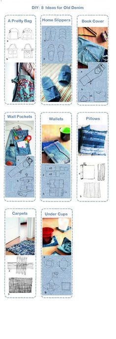 These are 8 easy-to-make remake ideas for old clothes. Enjoy!