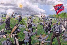 MALVERN HILL (July Last day of the Seven Days Battle - Union artillery stops the Confederate assault of Malvern Hill, VA.