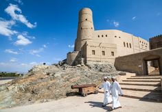 https://flic.kr/p/ma6jCG | Bahla fort, Oman |  Buy this photo on Getty Images : Getty Images  Bahla Fort (Arabic: قلعة بهلاء; transliterated: Qal'at Bahla') is one of four historic fortresses situated at the foot of the Djebel Akhdar highlands in Oman. It was built in the 13th and 14th centuries, when the oasis of Bahla was prosperous under the control of the Banu Nabhan tribe. The fort's ruined adobe walls and towers rise some 165 feet above its sandstone foundations. Nearby to the…
