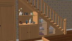 Mod The Sims - Under-The-Stairs Storage Set