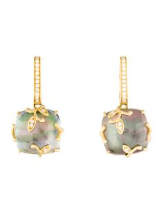 Frederic Sage White Mother-of-Pearl Drop Earrings in 18K Rose Gold nfA1eEXAD5
