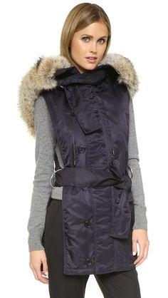 8ddf34cd3 3.1 Phillip Lim Fur Trim Flight Vest Fur Stole, Fur Trim, Phillip Lim,