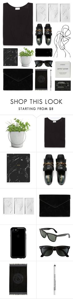 """july"" by twisterella ❤ liked on Polyvore featuring Potting Shed Creations, Yves Saint Laurent, Fringe, Umbra, Rebecca Minkoff, Speck, Ray-Ban, Versace, NYX and Byredo"