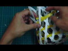 簡易六角孔小籃製作 - YouTube