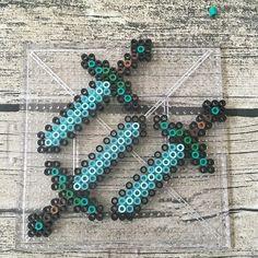 Diamond swords - Minecraft perler beads by prairieevaporites