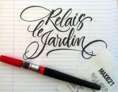 Barbara Calzolari Brushpen calligraphy