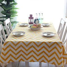 Delightful Kang Li Geometrically Corrugated Rectangle Table Cloth Yellow X