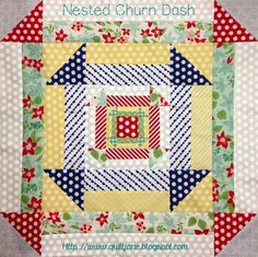 Want it, Need it, Quilt!: Nested Churn Dash - with free pdf tutorial