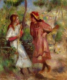 Pierre-Auguste Renoir - Two Girls in the Garden at Montmartre, 1895.