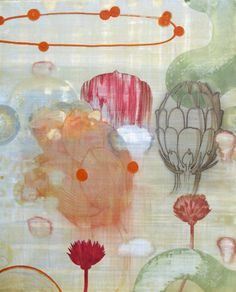 "Timothy McDowell   Arcadian Loop, 2008   beeswax, pigment, hide glue on linen, 44""x36"""