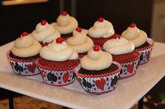 Casino party cupcakes
