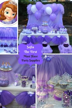 Sweet Sweet Princess Party. Sofia the First is a lovely birthday party theme. Our Party in a Box includes Tutus, Tiaras, Necklaces, Wands, Crafts and More. Visit us today at www.myprincesspartytogo.com