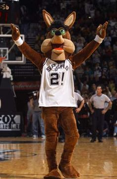 The Spurs Coyote. The best mascot that makes no sense.