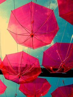 its raining umbrellas