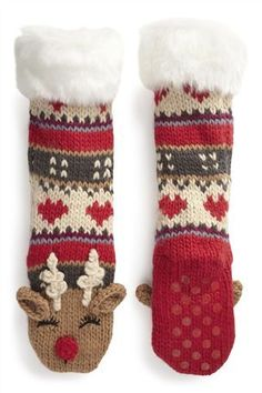 Buy Reindeer Slipper Socks (Older Girls) from the Next UK online shop Cargo Pants Women, Trousers Women, Pants For Women, Polar Express Party, Cosy Socks, Slipper Socks, Slippers, Christmas Trends, Christmas Traditions