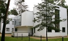 Gropius also designed master houses for the teachers at the Dessau Bauhaus....
