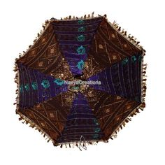 For Christmas Gift Elegant Indian Ethnic Embroidered Cotton Umbrella Sun Parasol #Handmade #Parasol