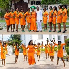 lovely Crazy Photos, Strange Photos, Orange Wedding, Ghana, Ankara, Roots, Wedding Ideas, Weddings, Bridal