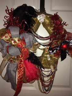 Made to Order Gasparilla Wreath by WenchesandWreaths on Etsy