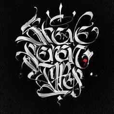 pinterest.com/fra411 #calligraphic - NSAAFA by Steve Seven