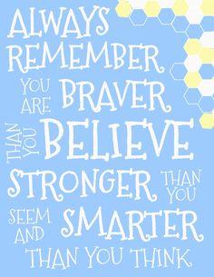 Winnie Pooh Quote Blue | Scribd