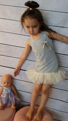 Sukienka letnia tiul-dziewczynka
