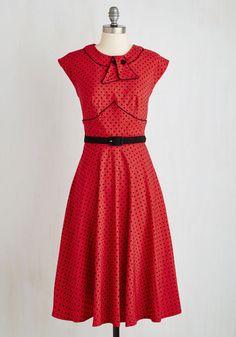 1930s-1950s Retro Revive Dress in Red $79.99 AT vintagedancer.com