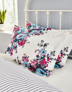 Joules Cream Floral Oxford Pillowcase