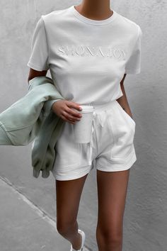 Lazy Outfits, Cute Comfy Outfits, Basic Outfits, Casual Summer Outfits, Look Fashion, Fashion Outfits, Mode Inspiration, Aesthetic Clothes, Everyday Fashion