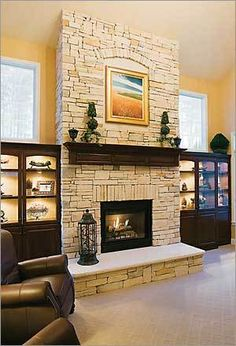 Fireplaces On Pinterest Stone Fireplaces Mantels And