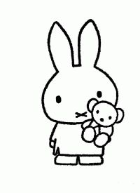 Miffy Holding A Doll Miffy, Coloring Pages For Kids, Svg Cuts, Charlie Brown, Cutting Files, Vinyl Decals, Hello Kitty, Embroidery, Dolls