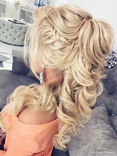 Elstile Wedding Hairstyles for Long Hair / www.deerpearlflow… Elstile Wedding Hairstyles voor lang haar / www. Homecoming Hairstyles, Wedding Hairstyles For Long Hair, Wedding Hair And Makeup, Braided Hairstyles, Hair Makeup, Hair Wedding, Modern Hairstyles, Fancy Hairstyles, Greek Hairstyles